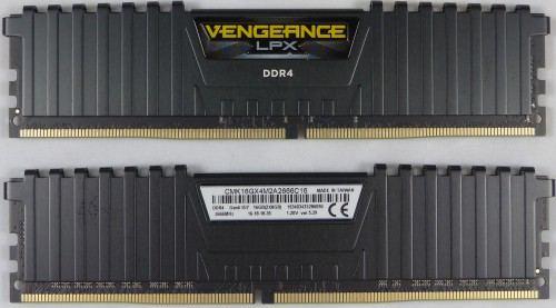 Corsair_DDR4_2_x_8_Go_Vengeance_LPX_2666Mhz_avant_arriere