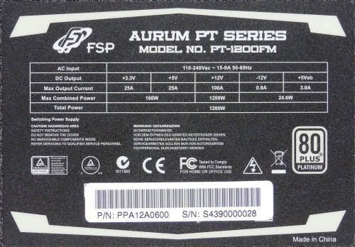 FSP_Aurum_PT_1200_dessous_autocollant
