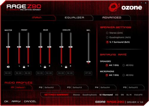 Ozone_Rage_Z90_logiciel1