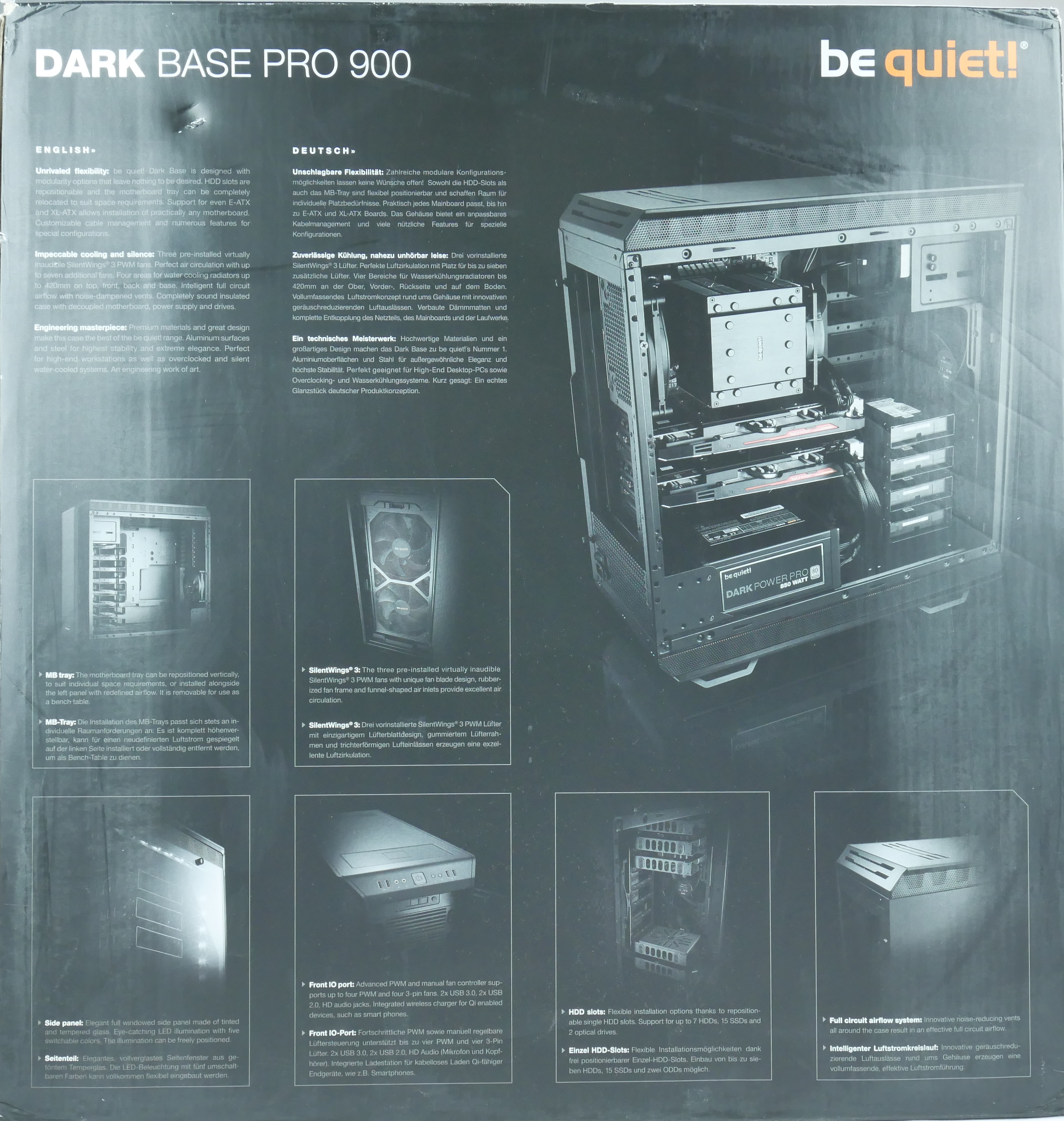 test be quiet dark base pro 900 conseil config. Black Bedroom Furniture Sets. Home Design Ideas
