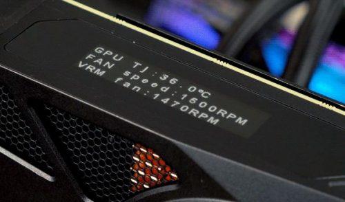 EVGA RTX 2080 Ti KingPin écran OLED