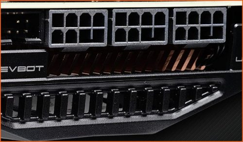 EVGA RTX 2080 Ti connecteurs alimentation