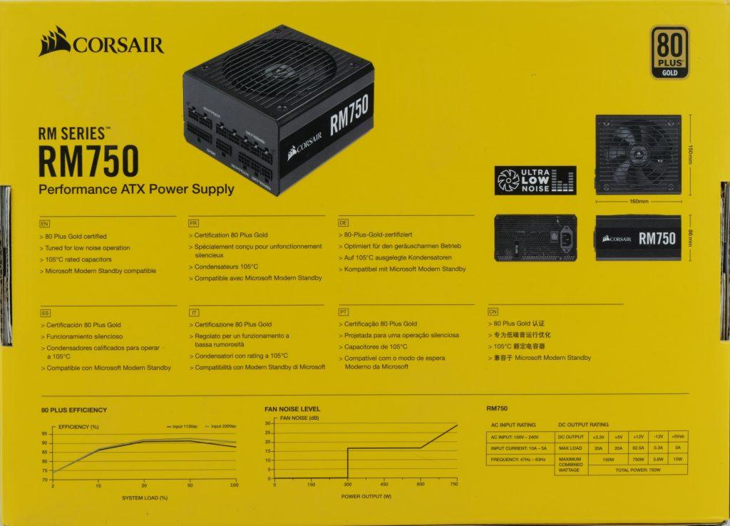 Boite Corsair RM750 2019