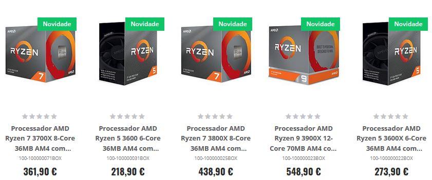 Prix processeurs AMD Ryzen 3000