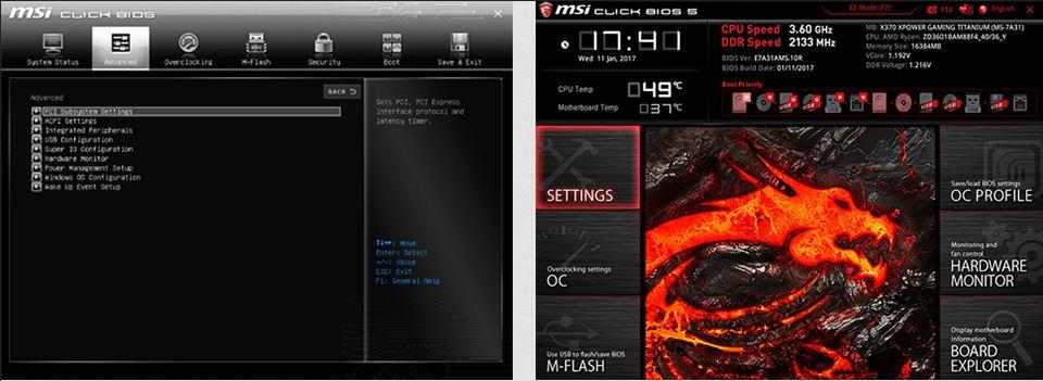 MSI Click BIOS 5 vers GSE Lite Ryzen 3000