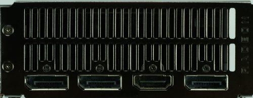 Connectique arrière AMD Radeon RX 5700 et RX 5700 XT