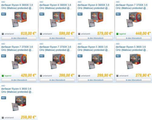 AMD Ryzen 3000 Caseking pré-testés et overclockés.
