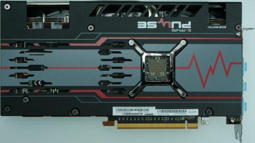 Sapphire Radeon RX 5700 XT arrière backplate
