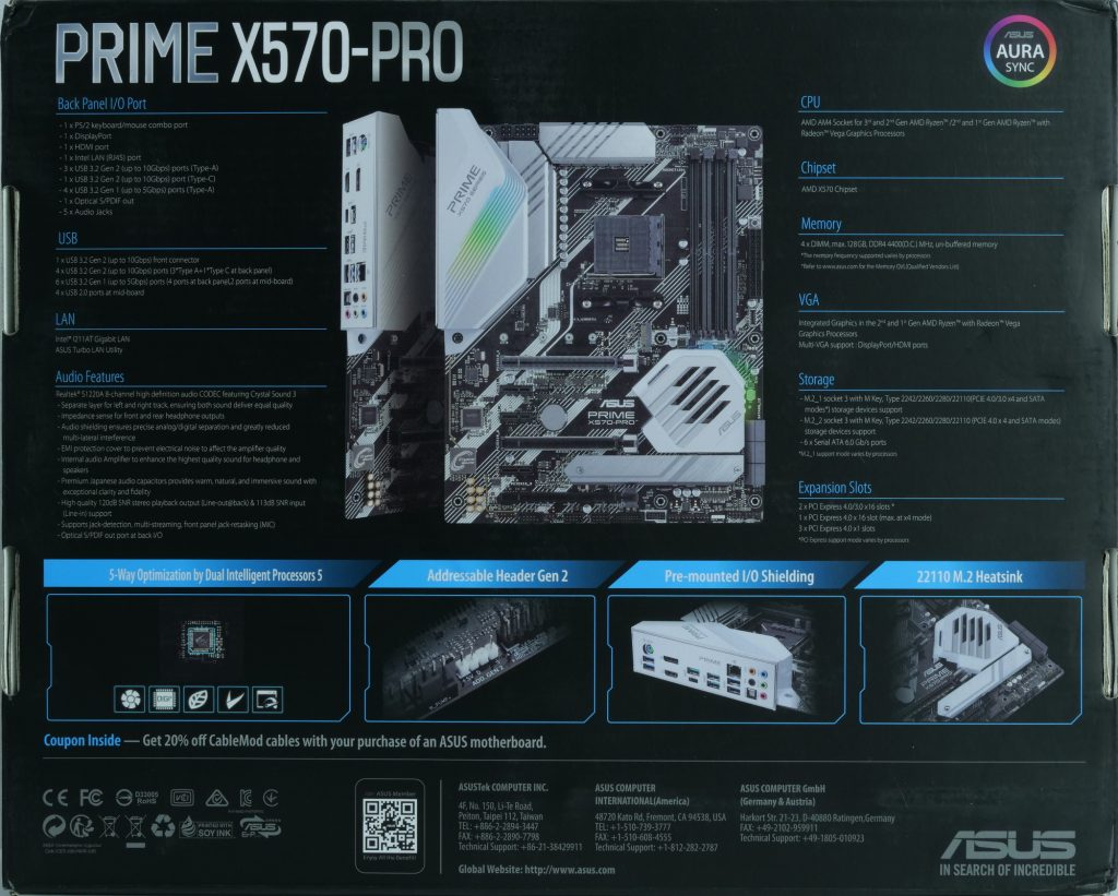 Asus Prime X570 Pro boite