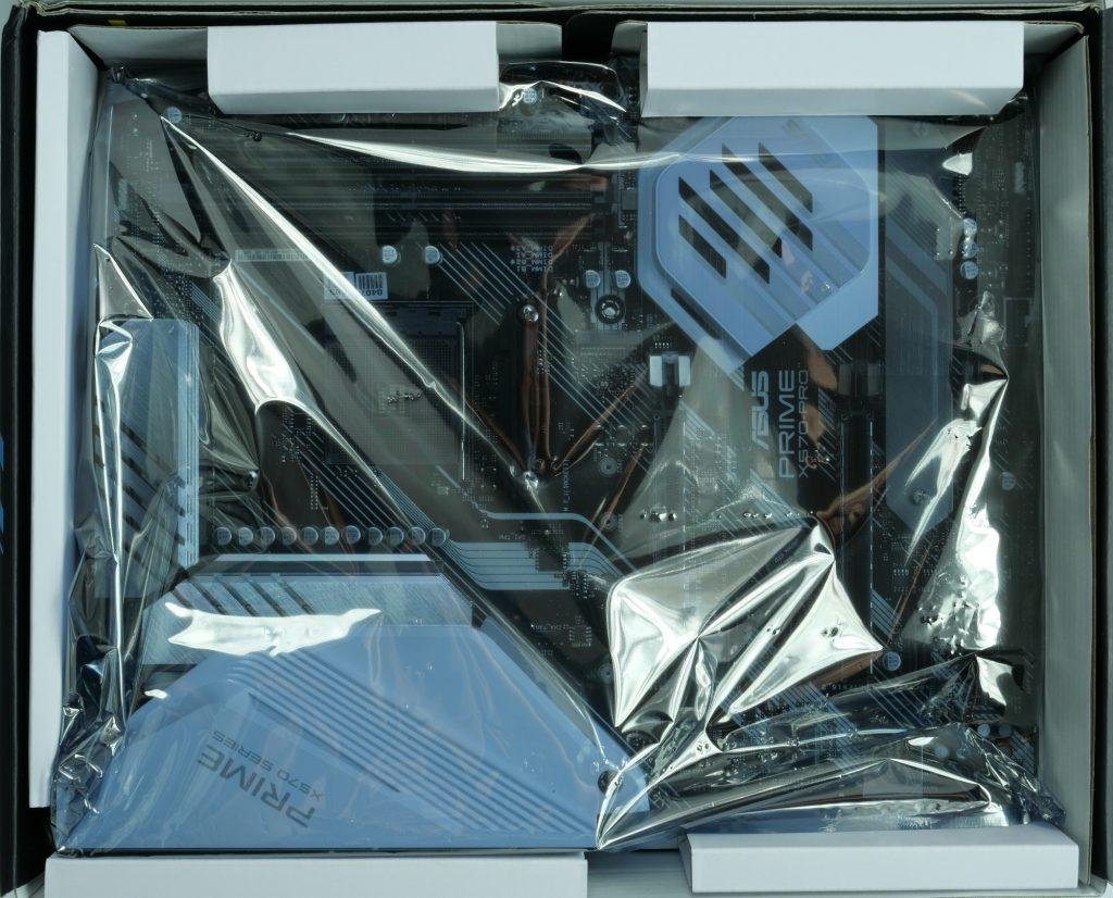 Asus Prime X570 Pro intérieur de la boite