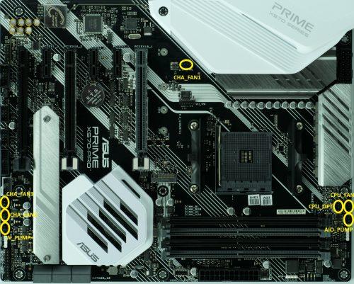 Asus Prime X570 Pro connecteurs 4-pin PWM