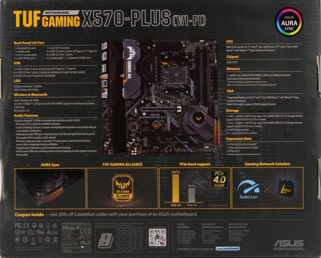 Asus TUF Gaming X570-Plus Wi-Fi boite