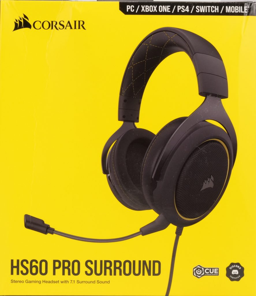 Corsair HS60 Pro Surround boite