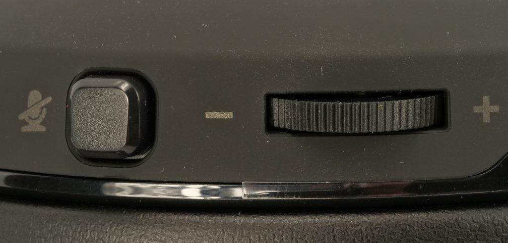 Corsair HS60 Pro Surround boutons mute et réglage son