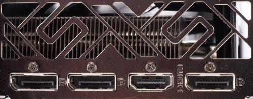 Sapphire Radeon RX 5600 XT Pulse connectique