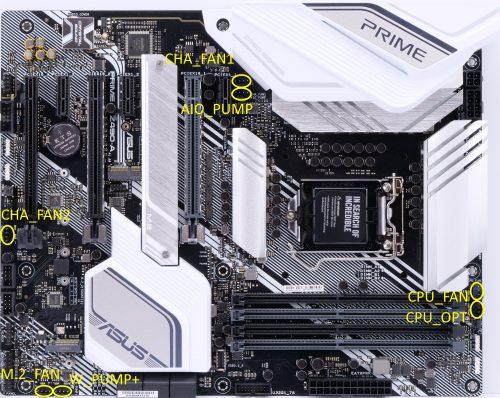 Asus Prime Z490-A 4-pin headers