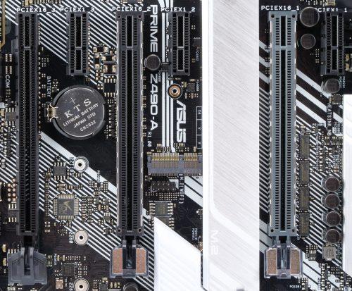 Asus Prime Z490-A slots PCIe