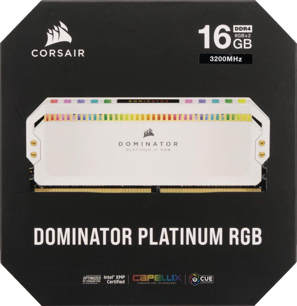 Boite Corsair Dominator Platinum RGB White 3200 MHz