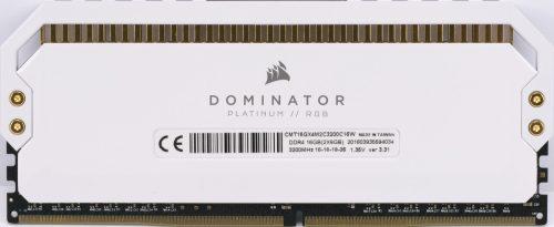 Barrette Corsair Dominator Platinum RGB White 3200 MHz