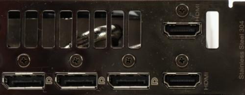 Asus TUF Gaming RTX 3080 OC connectique arrière