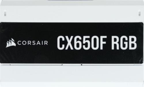 Corsair CX650F RGB tranche côté autocollant