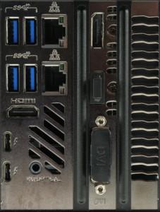 Intel NUC 9 Extreme connectique arrière