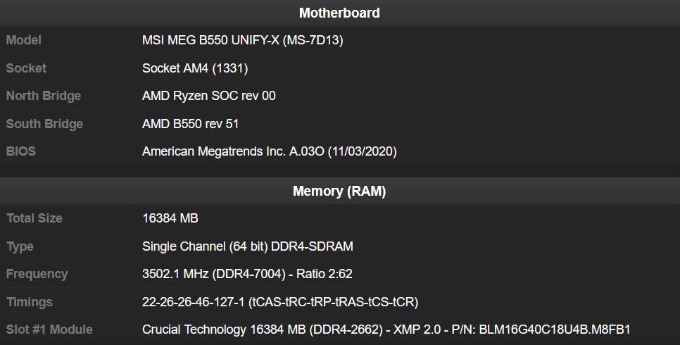 Overclocking à 7 GHz d'un module de mémoire Crucial BallistiX MAX 16 Go