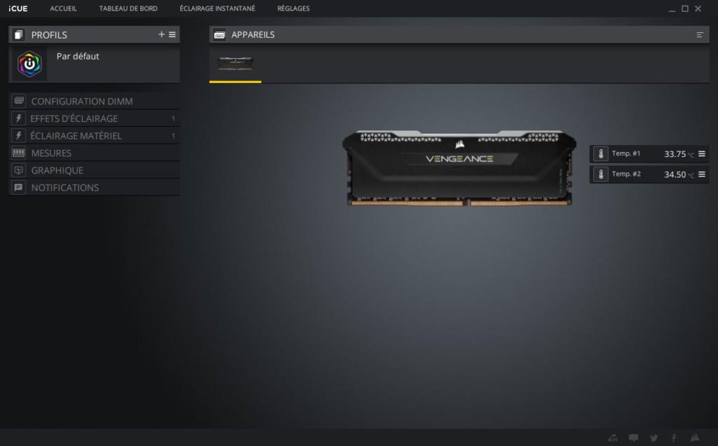 Corsair Vengeance RGB Pro SL logiciel iCUE