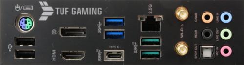 Asus TUF Gaming Z590-Plus WiFi connectique arrière