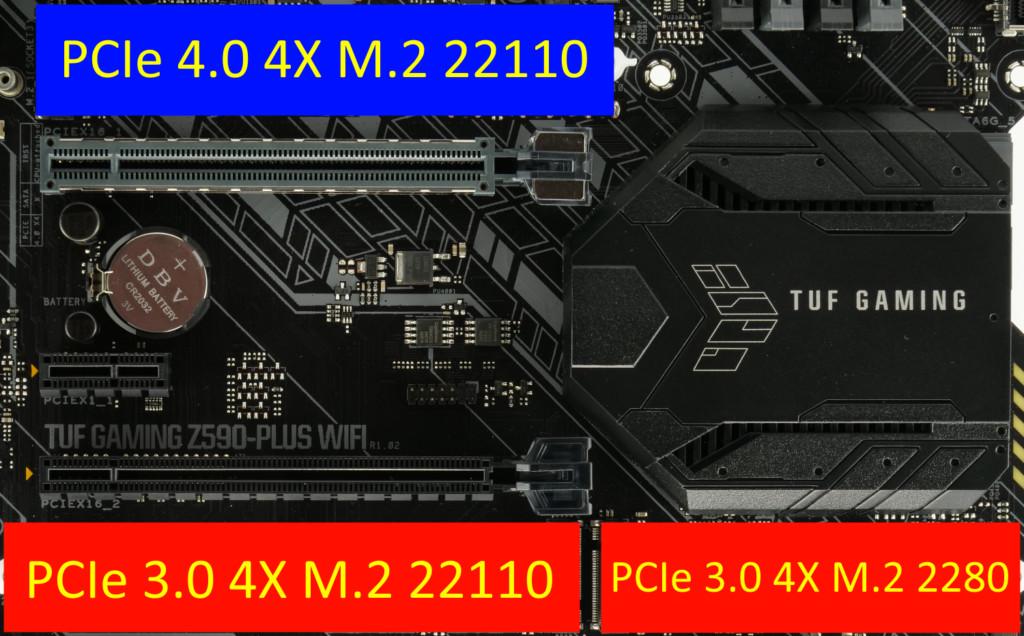 Asus TUF Gaming Z590-Plus WiFi ports M.2