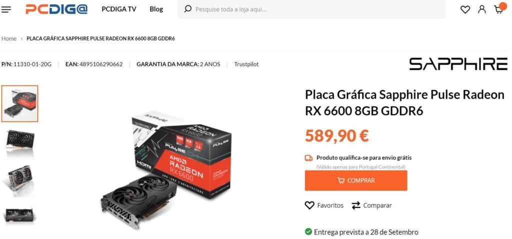 Prix AMD Radeon RX 6600