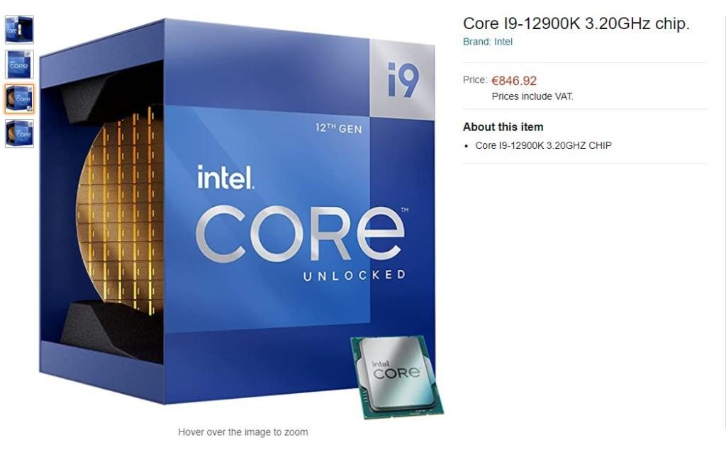 Prix Intel Core i9-12900K